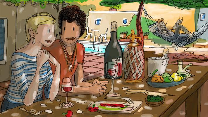 Ilustración de Javier Mariscal. Imagen cortesía de Pepita Lumier.