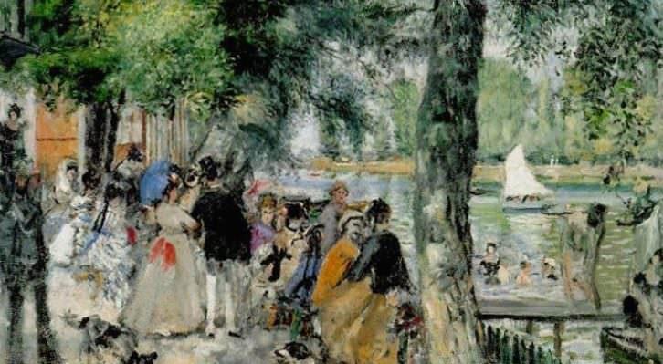 Detalle de la obra 'Baños en el Sena', de Pierre-Auguste Renoir. Fotografía cortesía del museo.