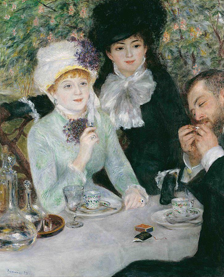 Imagen de la obra 'Después del almuerzo', de Pierre-Auguste Renoir. Fotografía cortesía del museo.