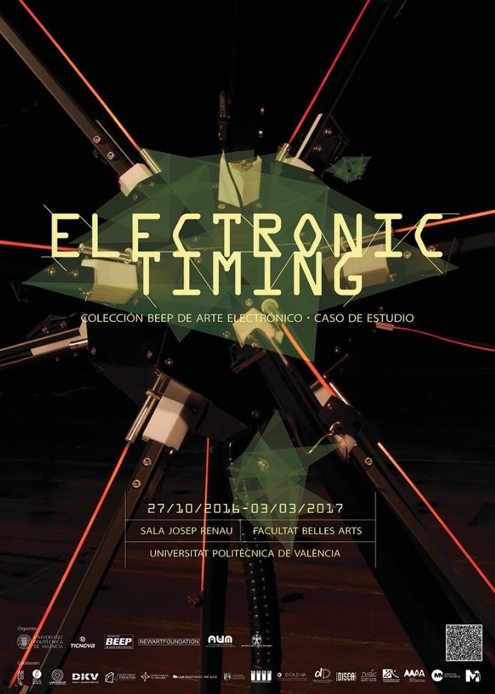 Cartel de la exposición Electronic Timing. Imagen cortesía de la UPV.