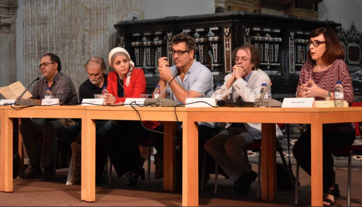 Un momento del Encontre d'Escriptors del Mediterrani. Imagen cortesía de Mostra Viva.