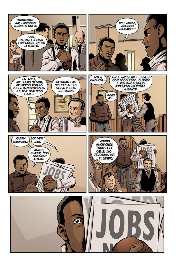 Ilustraciones de La Brigada Lincoln, de Pablo Durá. Imagen cortesía del autor.