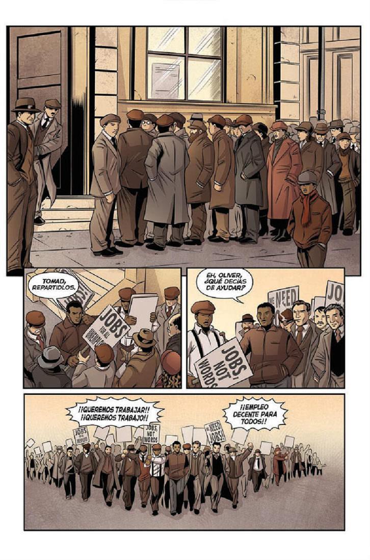 Ilustraciones de 'La Brigada Lincoln', de Pablo Durá. Imagen cortesía del autor.