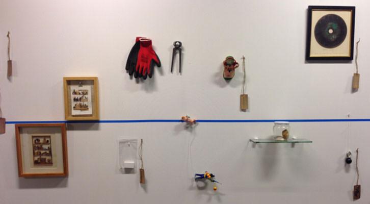 Algunas piezas de la exposición Mar de Murs.