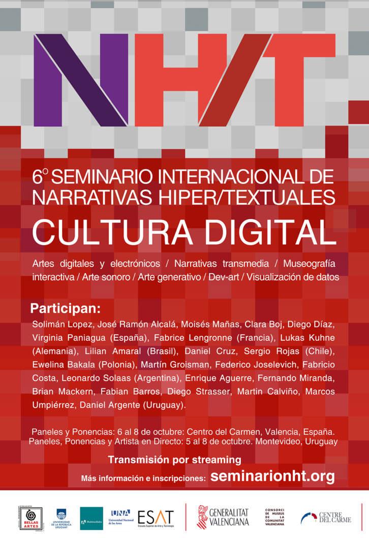Cartel del Seminario de Narrativas Hiper/Textuales.