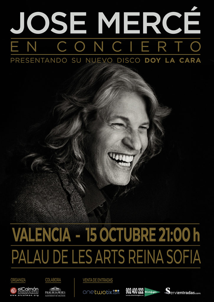 Cartel del concierto de José Mercé en el Palau de les Arts.