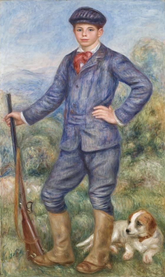 Imagen de la obra 'Jean como cazador', de Pierre-Auguste Renoir. Fotografía cortesía del museo.