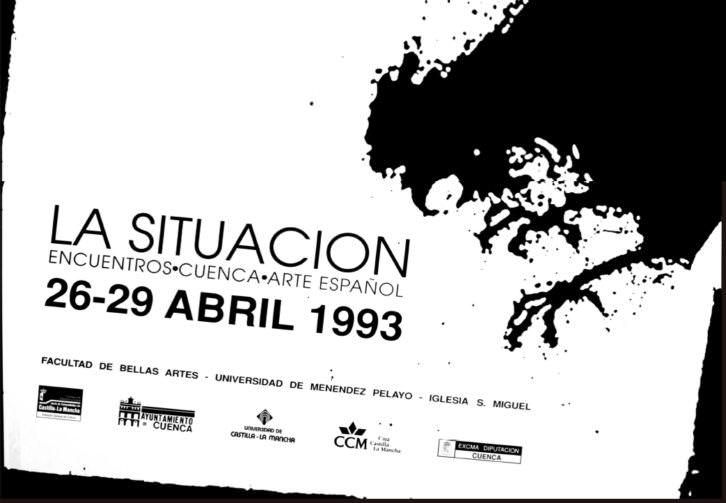Cartel de la primera edición de 'La situación', celebrada en 1993. Fotografía cortesía de los organizadores.