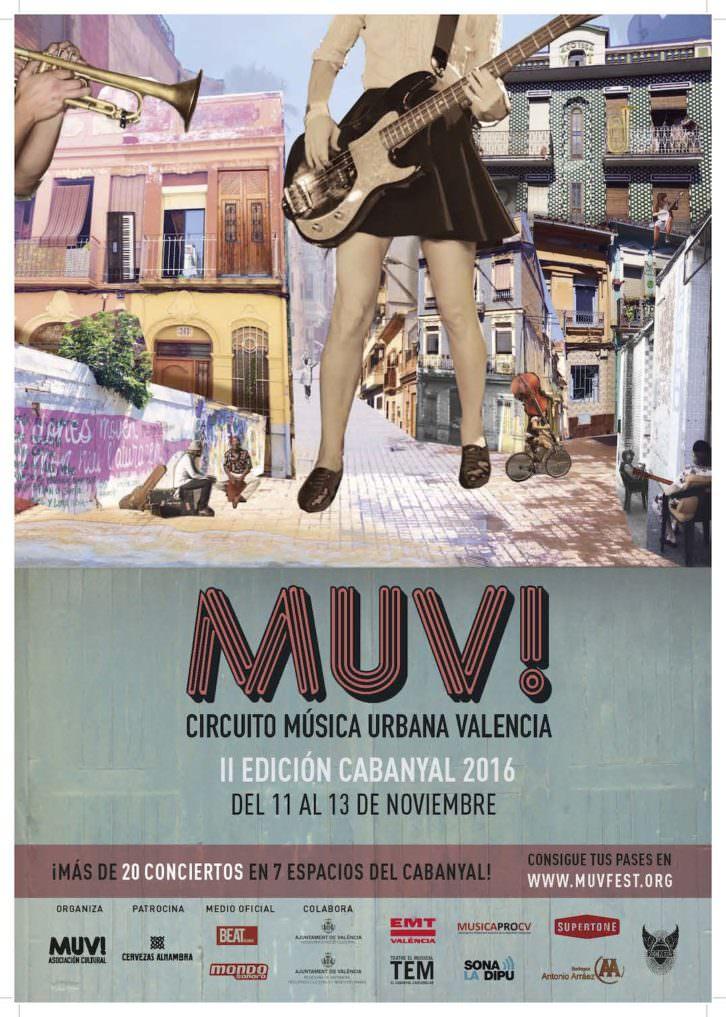 Cartel del Festival Muv! Imagen cortesía de la organización.