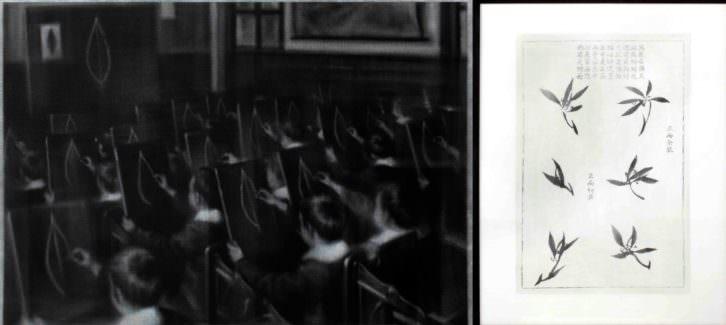 Obra de Chema López en la exposición 'Blanco nocturno' de la galería Rosa Santos. Imagen cortesía del autor.