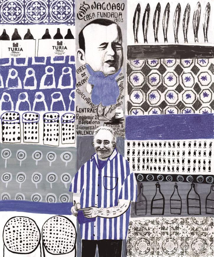 El Niño Llorón. Ilustración de Ana Penyas. Imagen cortesía de Cerveza Turia.