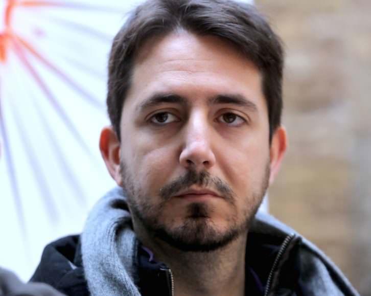 Javier Valenzuela, en un momento del encuentro. Fotografía: MAO.