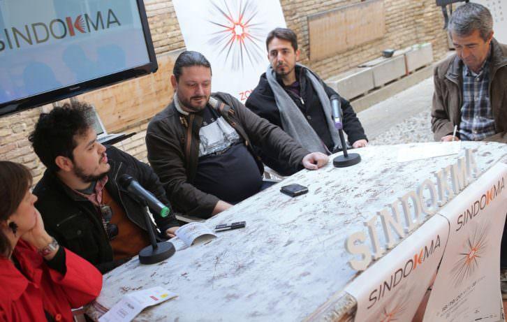 De izquierda a derecha, Begoña Siles, Alexander Lemus, Sergio Mars, Javier Valenzuela y Salva Torres. Fotografía: MAO.