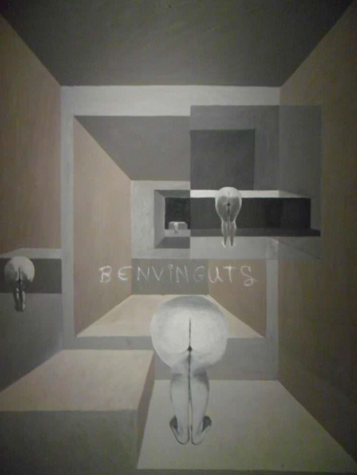 Obra de Messa en su exposición en el MuVIM.