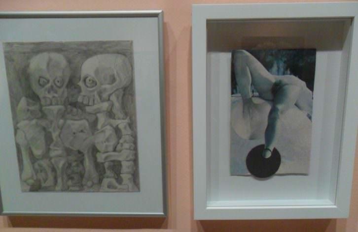 Obras de Messa en su exposición en el MuVIM.
