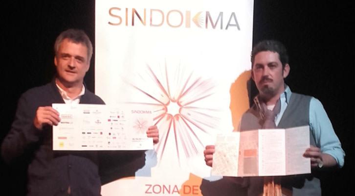 Vicente Chambó (izquierda) y Jose Ramón Alarcón, en la presentación de Sindokma.