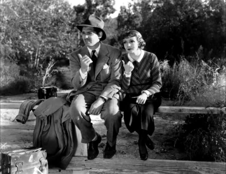Fotograma de 'Sucedió una noche'. Imagen cortesía de La Filmoteca.