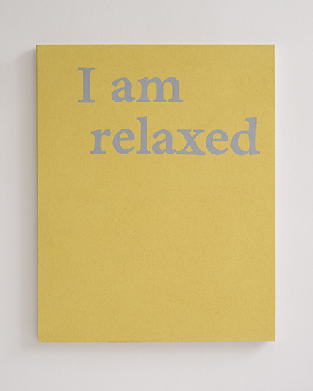 Camila Oliveira Fairclough. I am Relaxed, 2016 Acrílico sobre lienzo. 81 x 65 cm