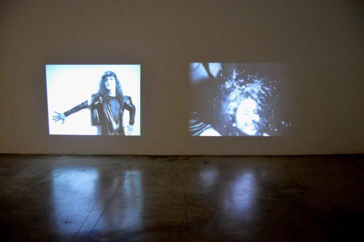 Un instante de la instalación audiovisual de 'Las ahijadas'. Fotografía: Jose Ramón Alarcón.