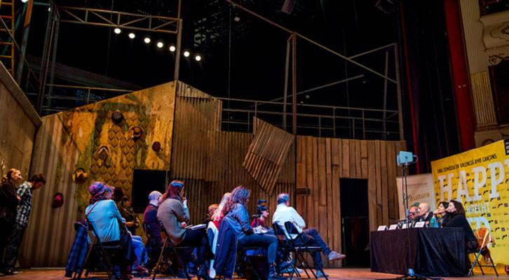Presentación de 'Happy End'. Fotografía de Raquel Abulaila por cortesía de Teatro Principal.