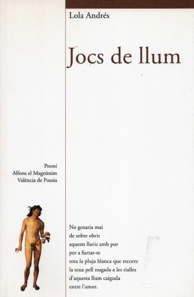 Cubierta de 'Jocs de Llum', de Lola Andrés.