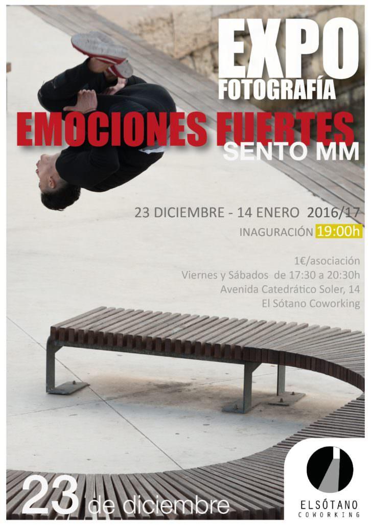 Tarjeta de la exposición de Sento MM en El Sótano Coworking.