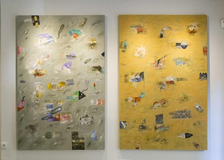 Obras de 'Aula Naturaleza', de Horacio Silva. Imagen cortesía de Shiras Galería.