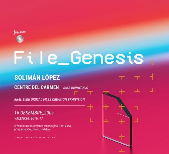 File Genesis, de Solimán López. Imagen cortesía del Centre del Carme.