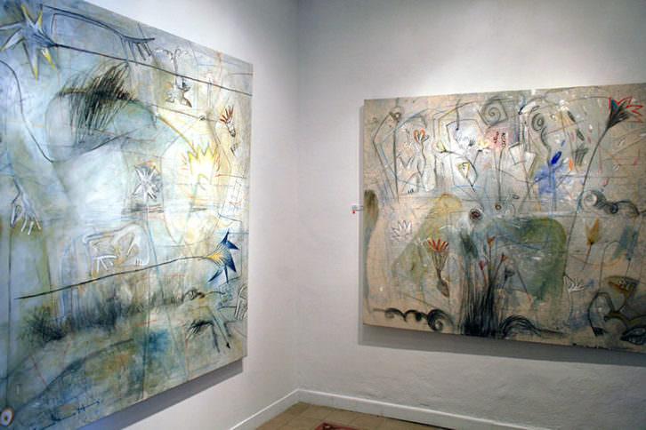 Obras de Claudio Zirotti en la Galería Acuda de Godella, Imagen cortesía del autor.