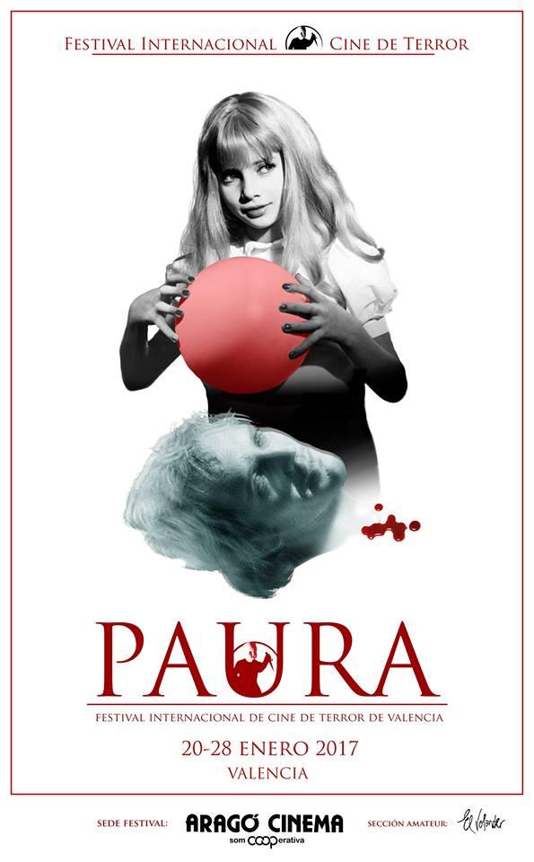 Cartel del Festival Paura diseñado por Fernando Ivorra. Imagen cortesía de la organización.