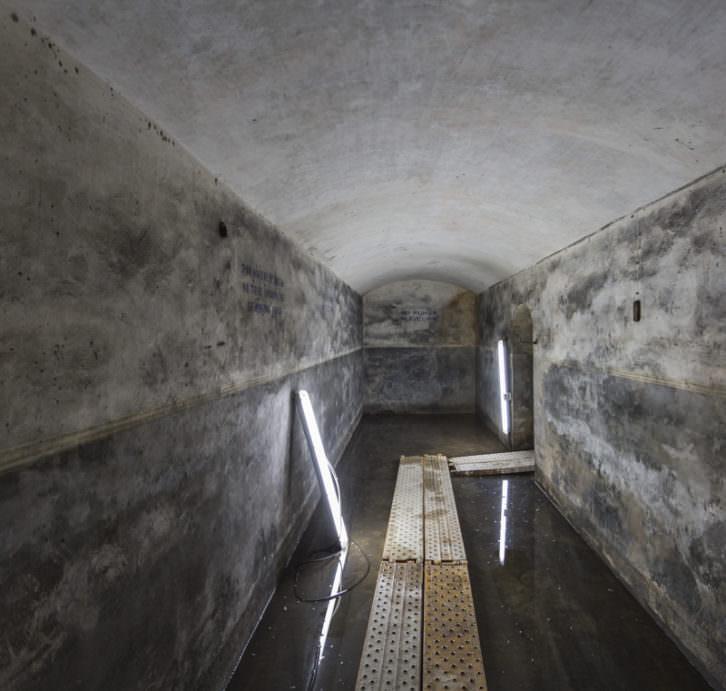 Refugio antiaéreo descubierto en Bombas Gens. Fotografía de Daniel Rueda.