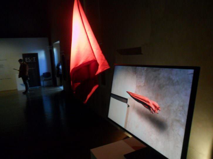Vista de la exposición 'File Genesis', de Solimán López, en el Centre del Carme.