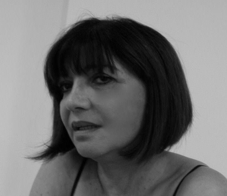 Graciela Devincenzi, de la galería Alba Cabrera. Imagen cortesía de la autora.