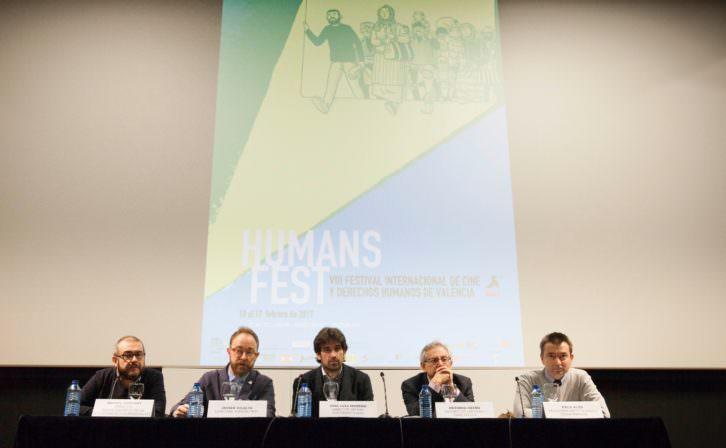 Representantes del festival Humans Fest. Imagen cortesía de la Filmoteca de Valencia.