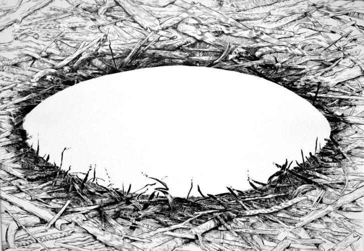 Pábilo, de Cristina Ramírez en la exposición 'Negro humo'.