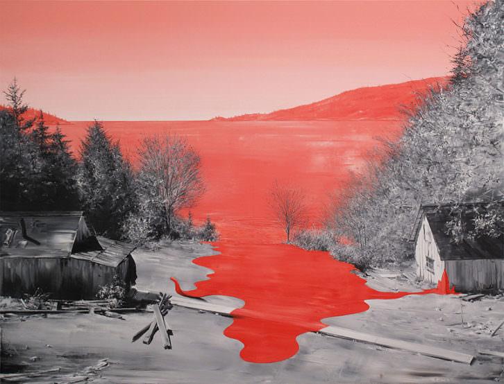 Asalto, obra de Paco Pomet. Imagen cortesía de My Name's Lolita Art.