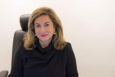 Sara Joudi, de la galería Shiras. Imagen cortesía de la autora.