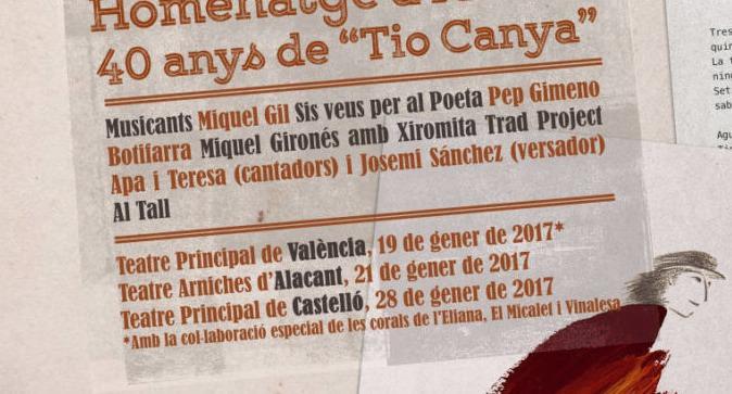 Tio Canya en el Teatro Principal de Valencia.