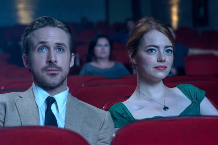 Ryan Gossling y Emma Stone durante un instante de la película 'La ciudad de las estrellas. La La Land'.