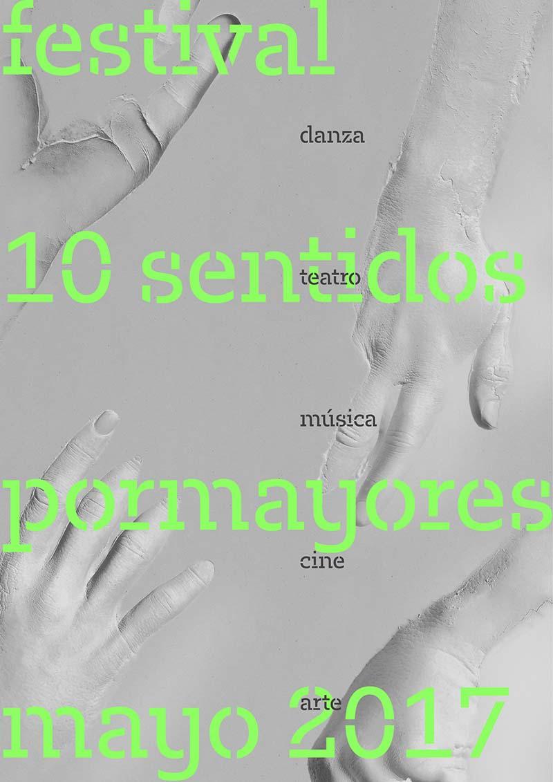 Cartel del VI Festival 10 Sentidos, obra de la firma Player. Imagen cortesía del festival.