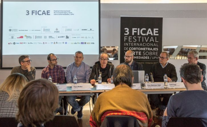 Diferentes representantes de FICAE durante su presentación en el IVAM. Imagen cortesía de la organización.