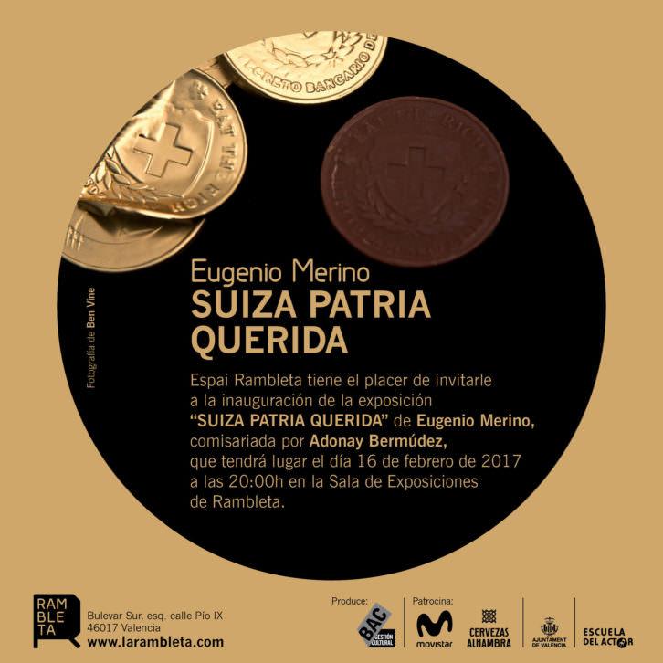 Invitación de la exposición de Eugenio Merino. Imagen cortesía de Espai Rambleta.