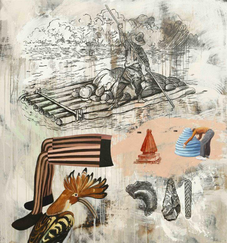 Imagen de la obra 'La enciclopedia imaginaria de Borges', de Nuria Rodríguez. Fotografía cortesía de la galería.