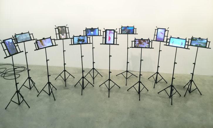 Obra de Máximo González titulada 'Partitura'. Imagen cortesía Galería Aural.