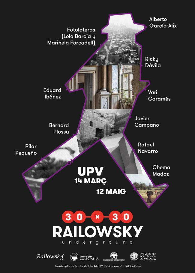 Cartel de 30x30 Railowsky ahora en la Facultad de Bellas Artes.