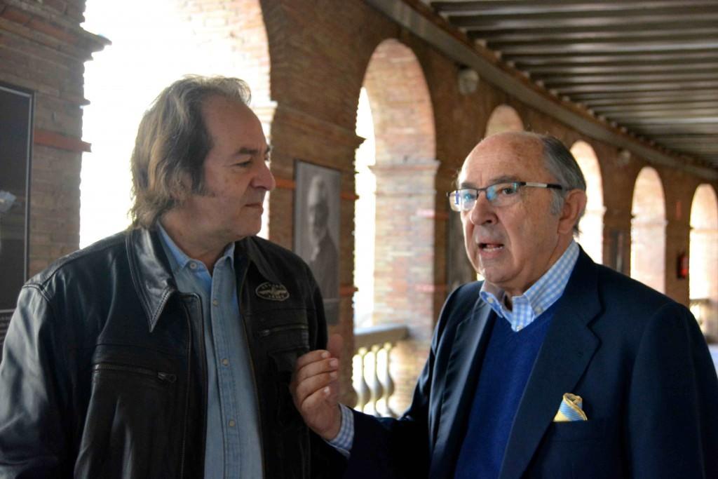 Paco Delgado y Pedro Toledano durante un instante de la entrevista. Fotografía: Merche Medina.