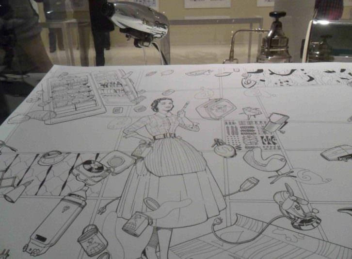Una de las obras de la exposición 'La casa. Crónica de una conqusta', de Daniel Torres, en el IVAM.