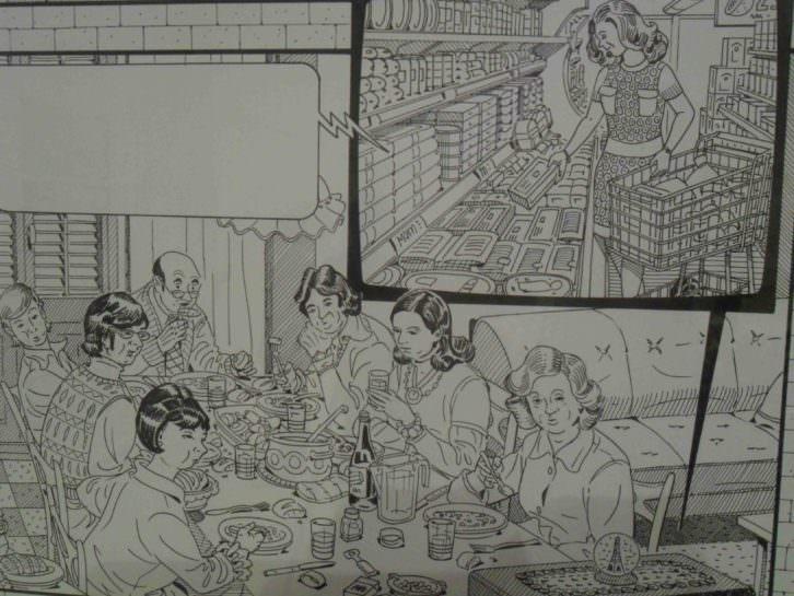 Ilustración de Daniel Torres en 'La Casa. Crónica de una conquista' en el IVAM.