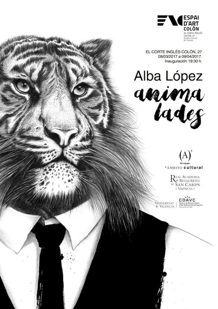 Cartell de la exposició de Alba López. Imatge cedida per el CDAVC.