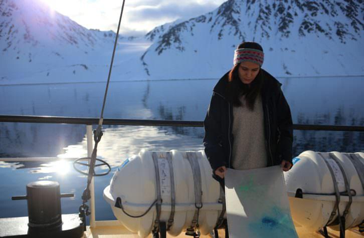 Cristina Gamón. Fotografía: Svalbard.